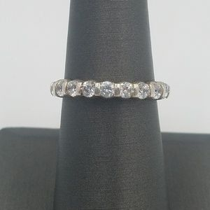 Jewelry - Sterling Silver Eternity Band Simulated Diamond